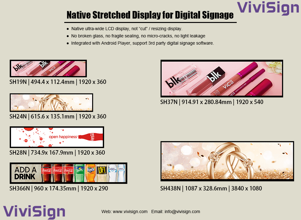 Native Stretched Displays